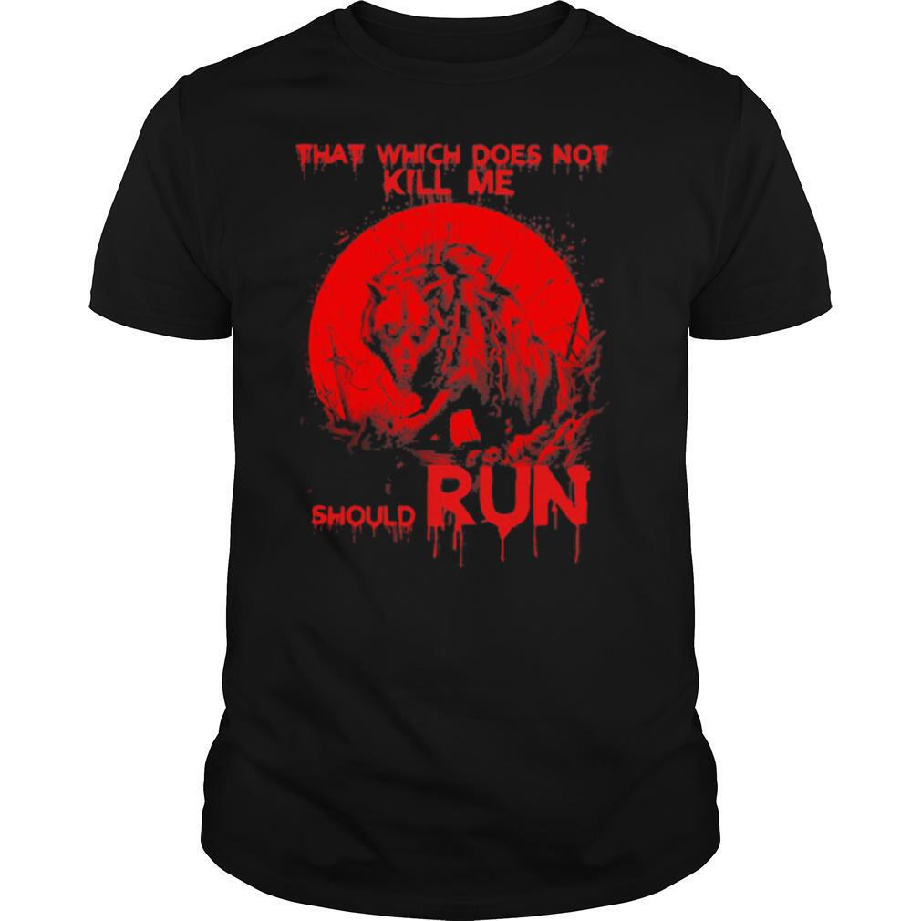 Wolf that which does not kill me should run shirt Classic Men's