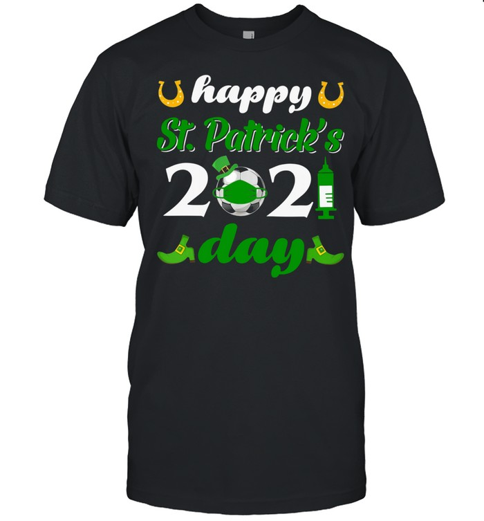 Happy St Patrick's Day 2021 Soccer Face Mask With Covid-19 shirt Classic Men's T-shirt