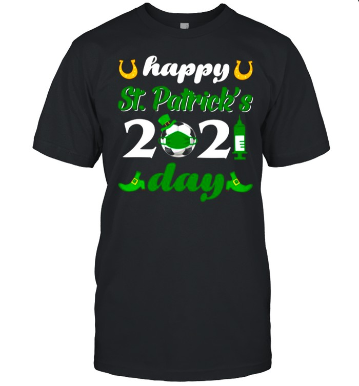 Happy St Patricks Day 2021 Soccer Face Mask With Covid19 shirt Classic Men's T-shirt
