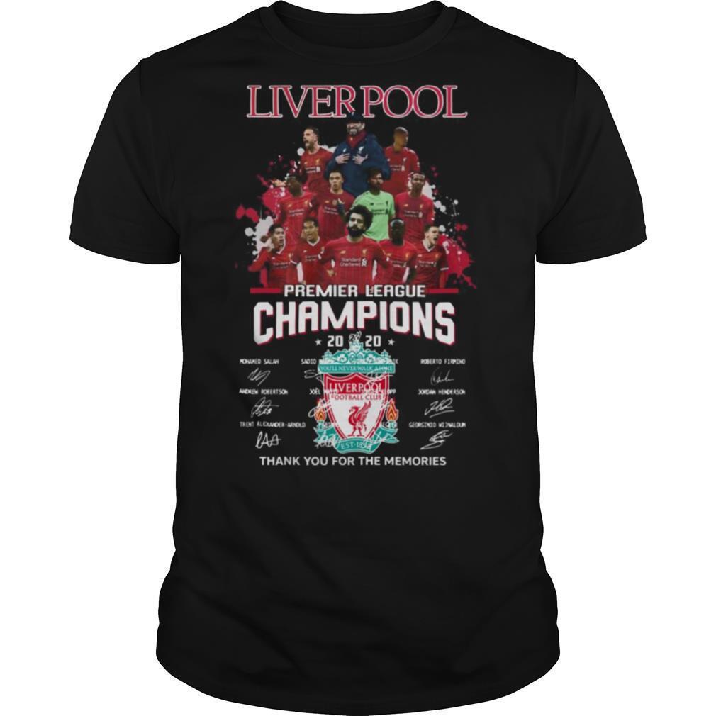 Liverpool Fc Premier League Champions 2020 Signature shirt Classic Men's