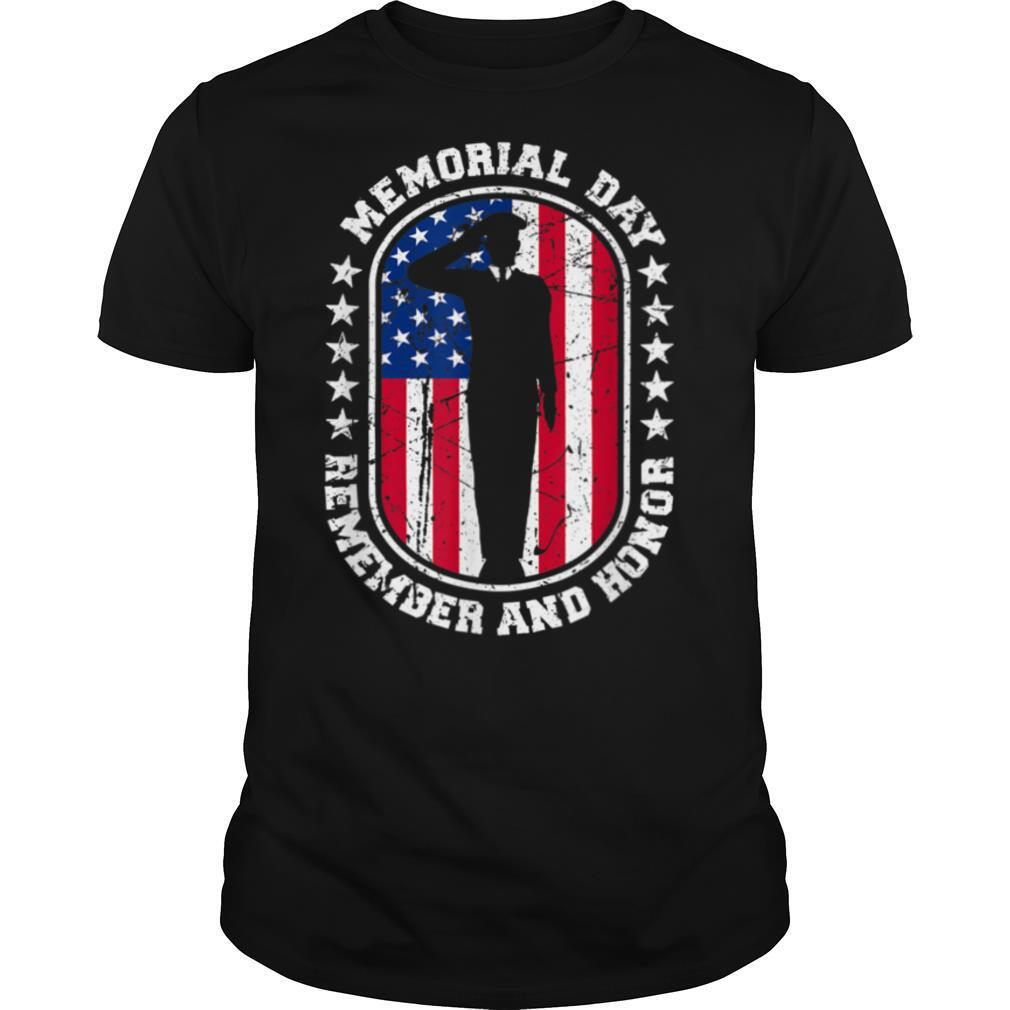 Memorial Day Remember Honor Veterans Sacrifice For Freedom T shirt Classic Men's