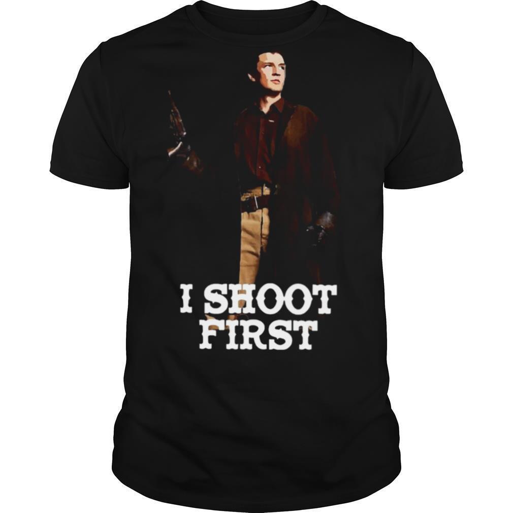 Nathan Fillion I Shoot First shirt Classic Men's