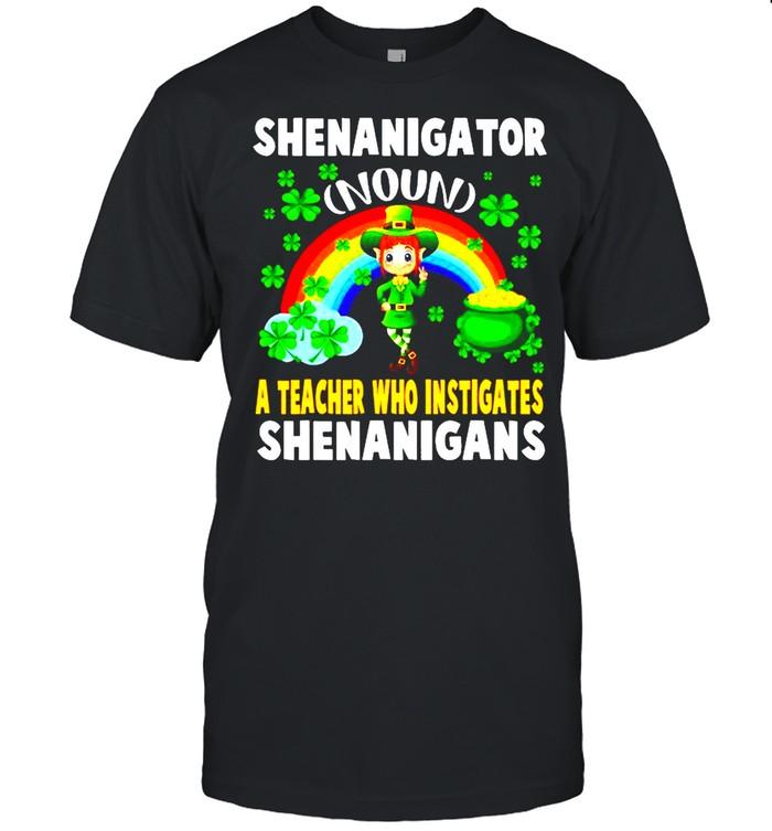 Shenanigator Definition Teacher Who Instigates Shenanigan shirt Classic Men's T-shirt