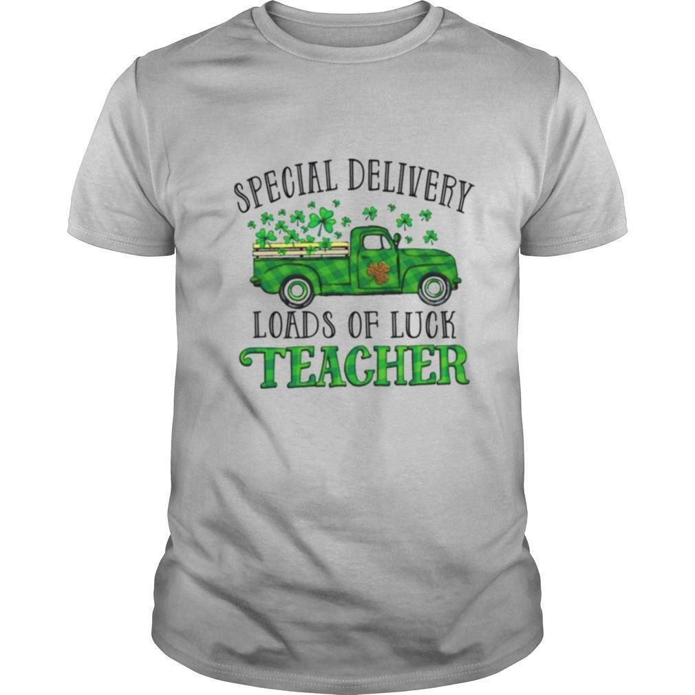 Special Delivery Loads Of Luck Teacher Irish Saint Patricks Day shirt Classic Men's