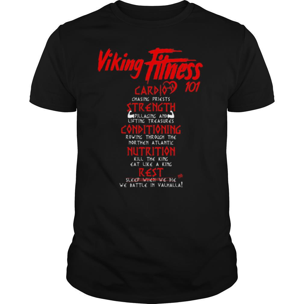 Viking fitness 101 card strength conditioning nutrition rest shirt Classic Men's