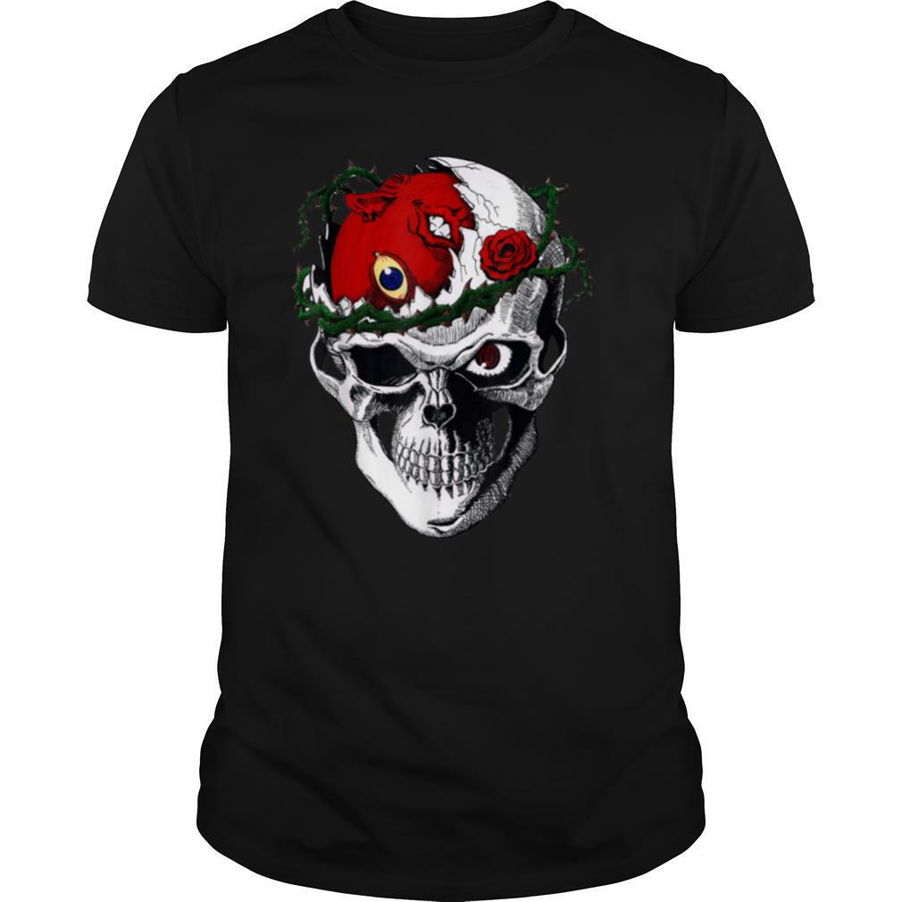 Vintage Love Berserks Anime Skull Arts Distressed Vaporwave T shirt Classic Men's