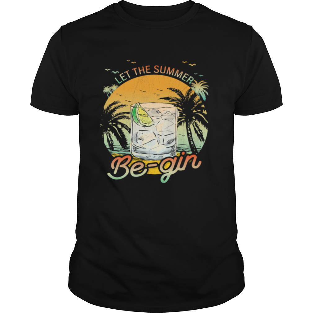 Whiskey let the summer be gin sunset shirt Classic Men's