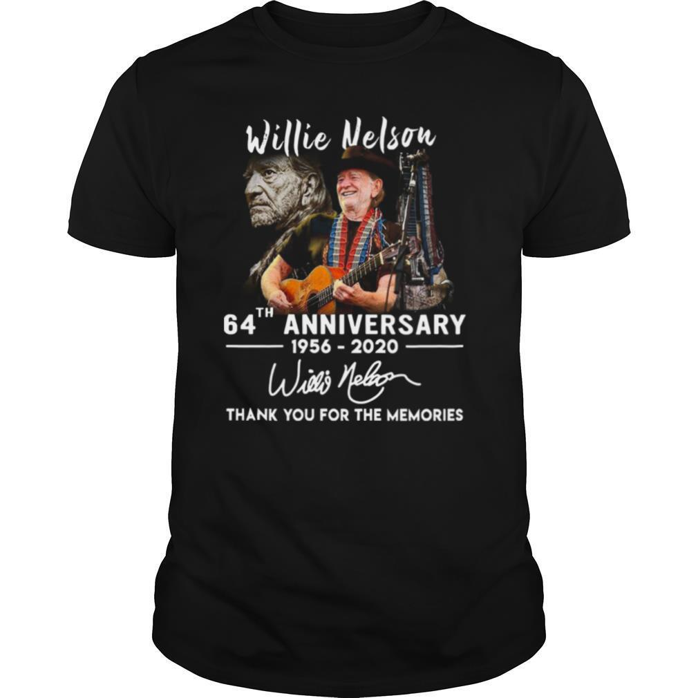 Willie Nelson 64th Anniversary Thank You For The Memories Signature shirt Classic Men's