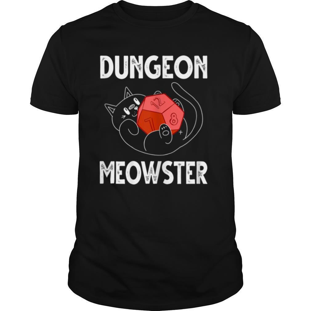 Womens Dungeon Meowster Gamer Geek Cat Lover Introvert Gift T shirt Classic Men's