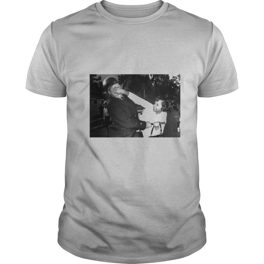 A Black Woman Claws At A Milwaukee Police Captain's Face shirt Classic Men's