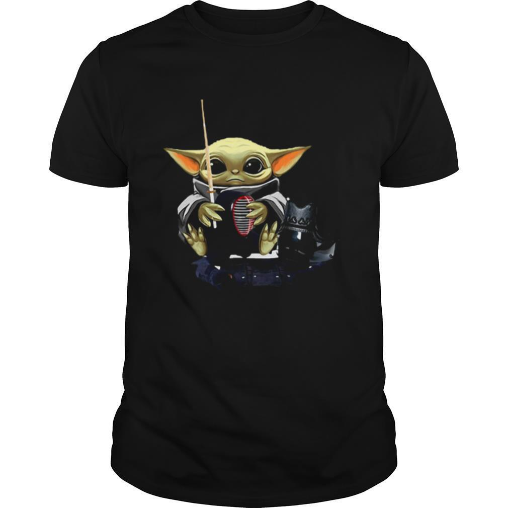 Baby Yoda Hug Fencing Star Wars shirt Classic Men's