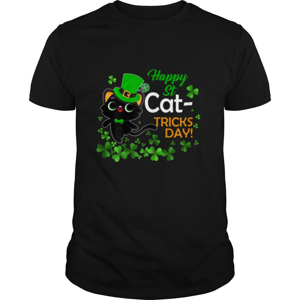 Happy St Catrick's Day Funny Cat T shirt Classic Men's