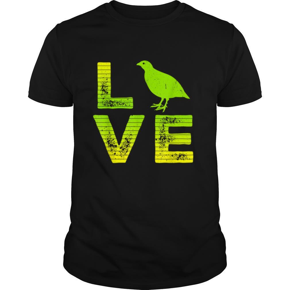 I Love Quails Farm Quail Loving Boys & Girls T shirt Classic Men's
