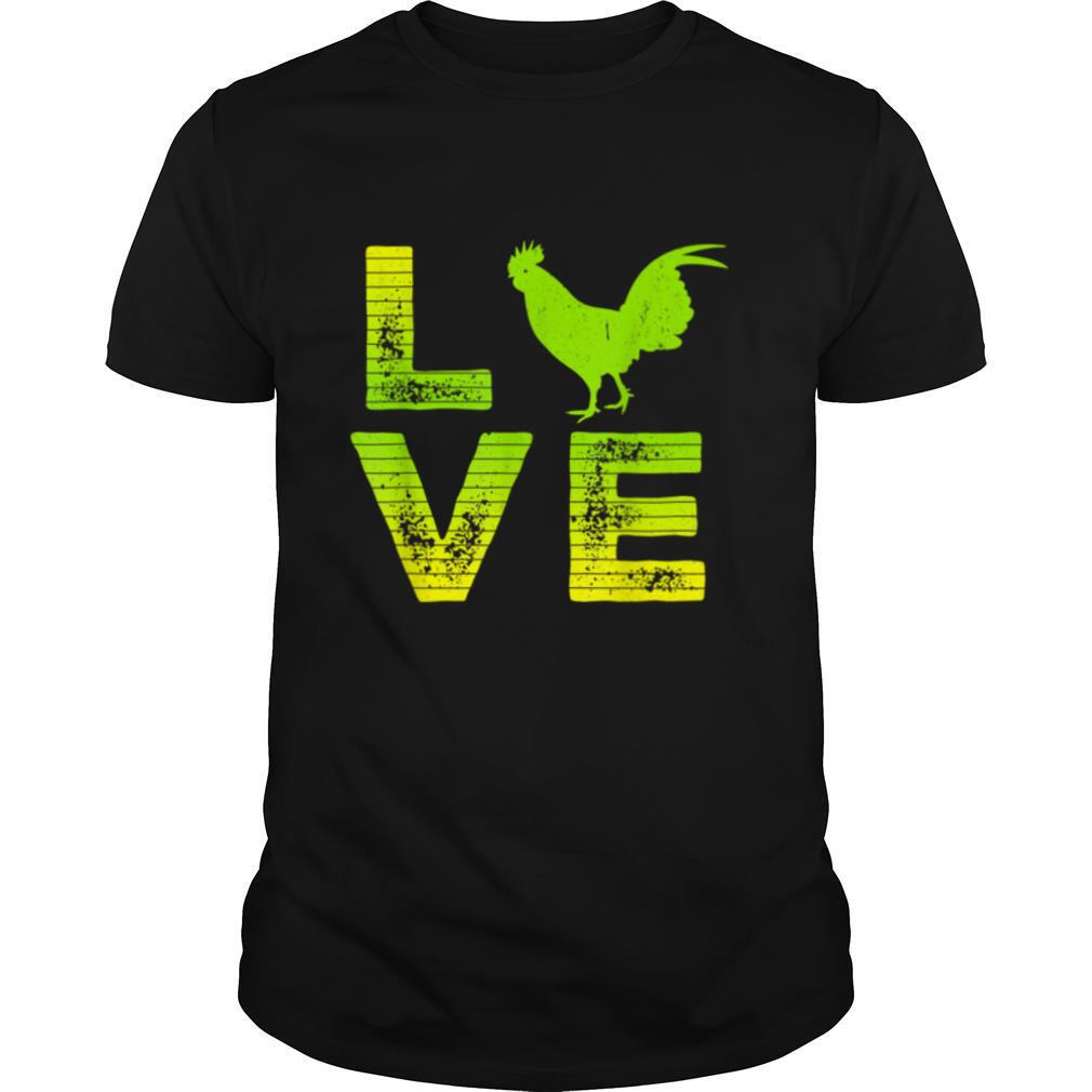 I Love Roosters Farm Rooster Loving Boys & Girls T shirt Classic Men's