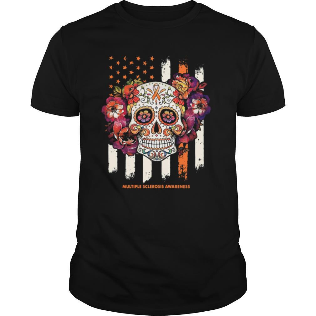 Independence day festival of death skull multiple sclerosis awareness shirt Classic Men's
