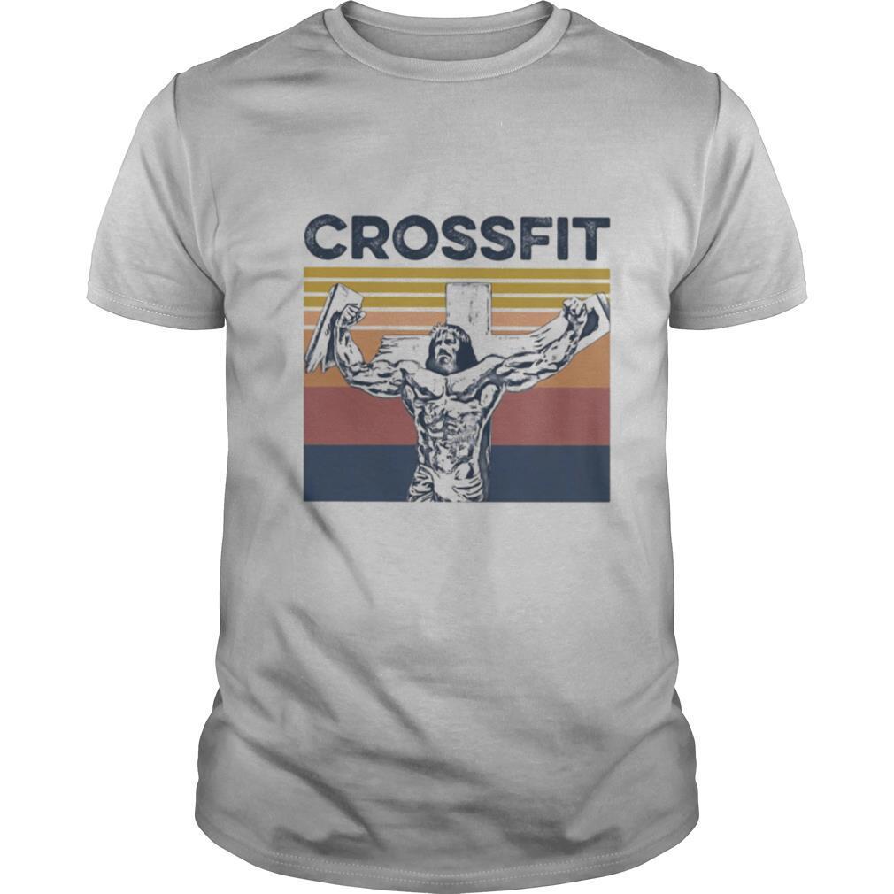Jesus strong crossfit vintage retro shirt Classic Men's