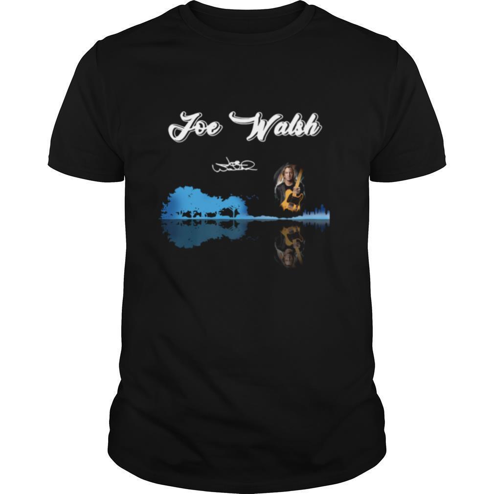 Joe Walsh Guitar Water Reflection shirt Classic Men's