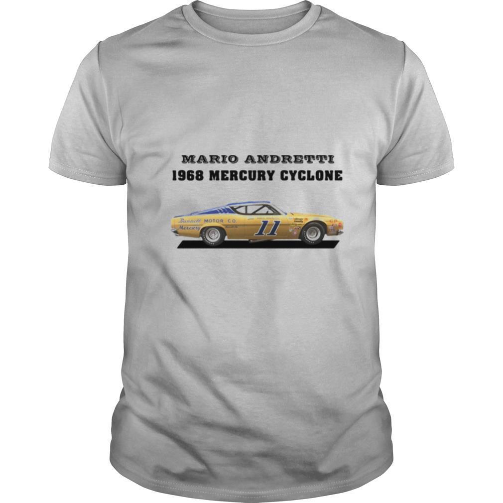 Mario andretti racing athletes 1968 mercury cyclone shirt Classic Men's