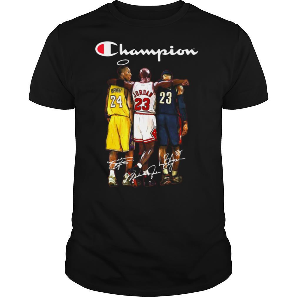 Rip kobe bryant michael jordan lebron james champion basketball signatures shirt Classic Men's
