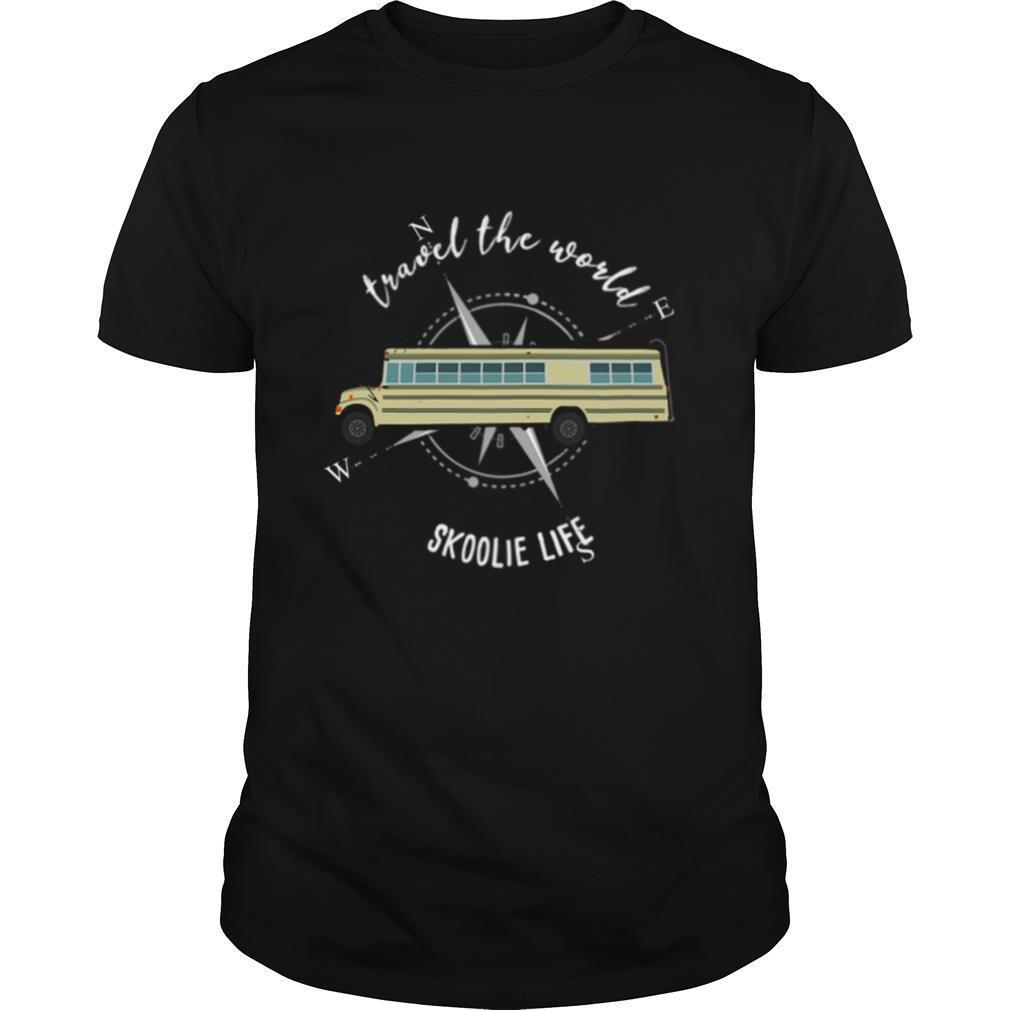 School Bus Travel The World Skoolie Life shirt Classic Men's