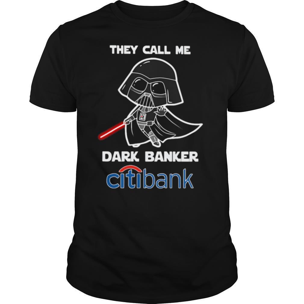 Star wars darth vader they call me darth baker citibank shirt Classic Men's