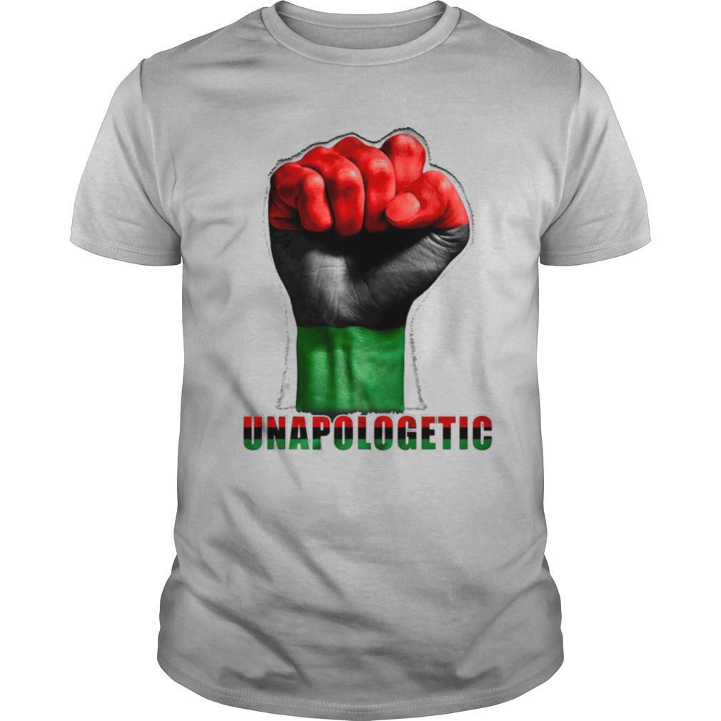 Unapologetic Pan African Flag Hand Black Lives Matter shirt Classic Men's