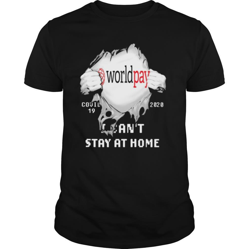 Worldpay I can't stay at home Covid 19 2020 superman shirt Classic Men's