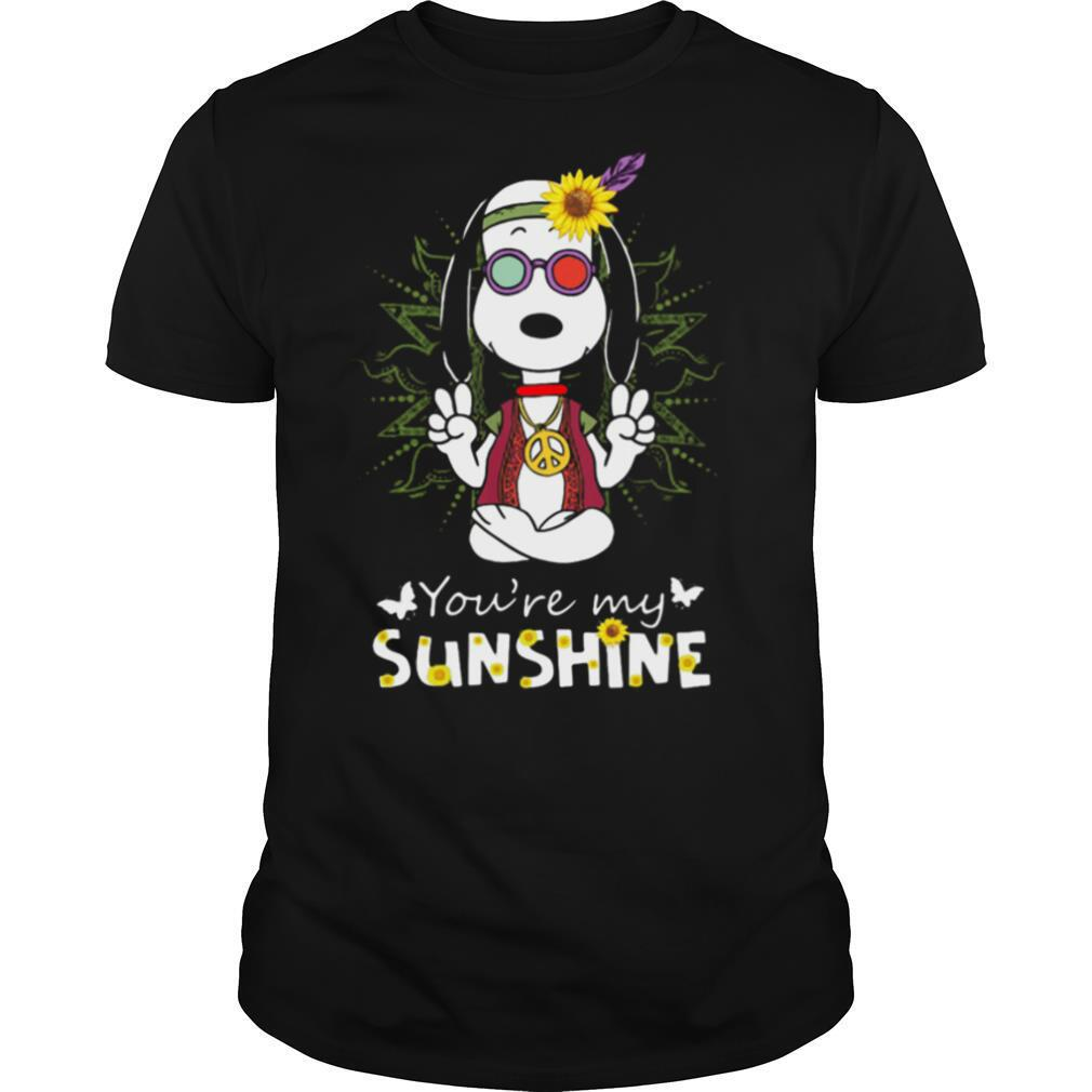 Yoga snoopy you're my sunshine sunflowers shirt Classic Men's