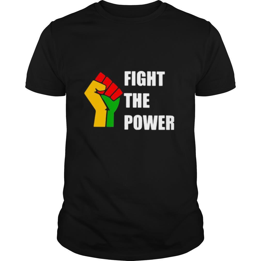 Black Lives Matter Fight The Power Hand LGBT shirt Classic Men's