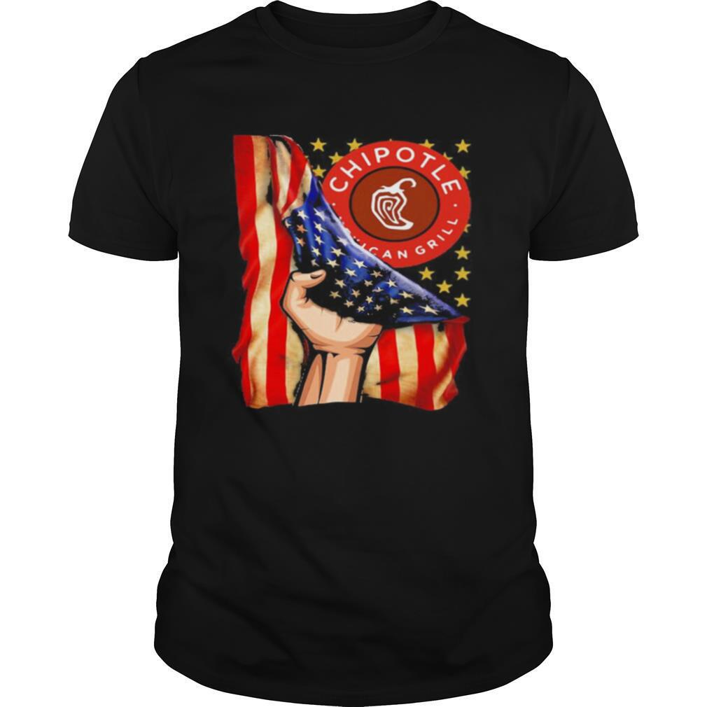 Chipotle mexican grill american flag independence day shirt Classic Men's
