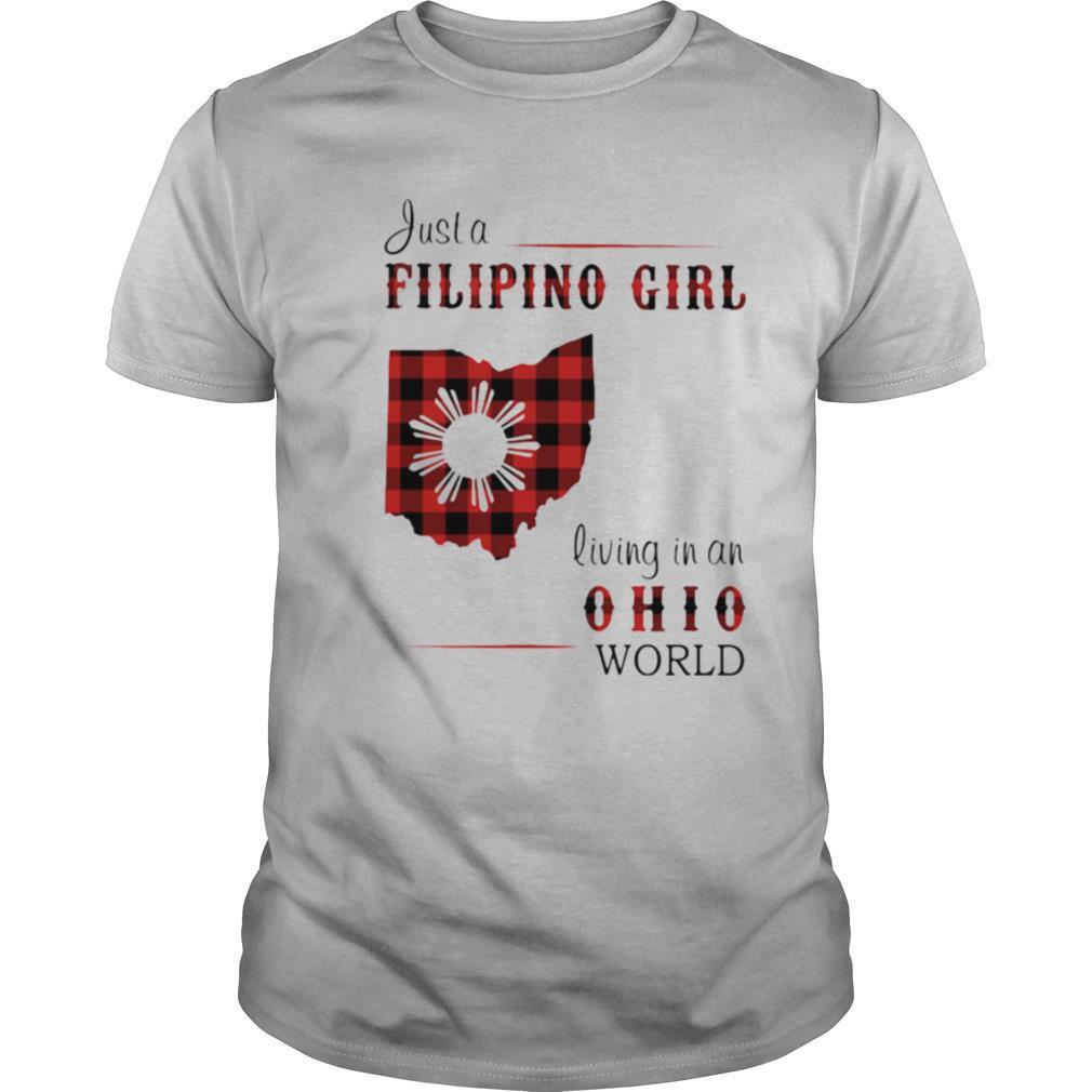 Just a filipino girl living in an ohio world shirt Classic Men's