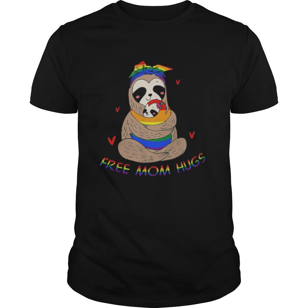 LGBT sloth free mom hugs shirt Classic Men's