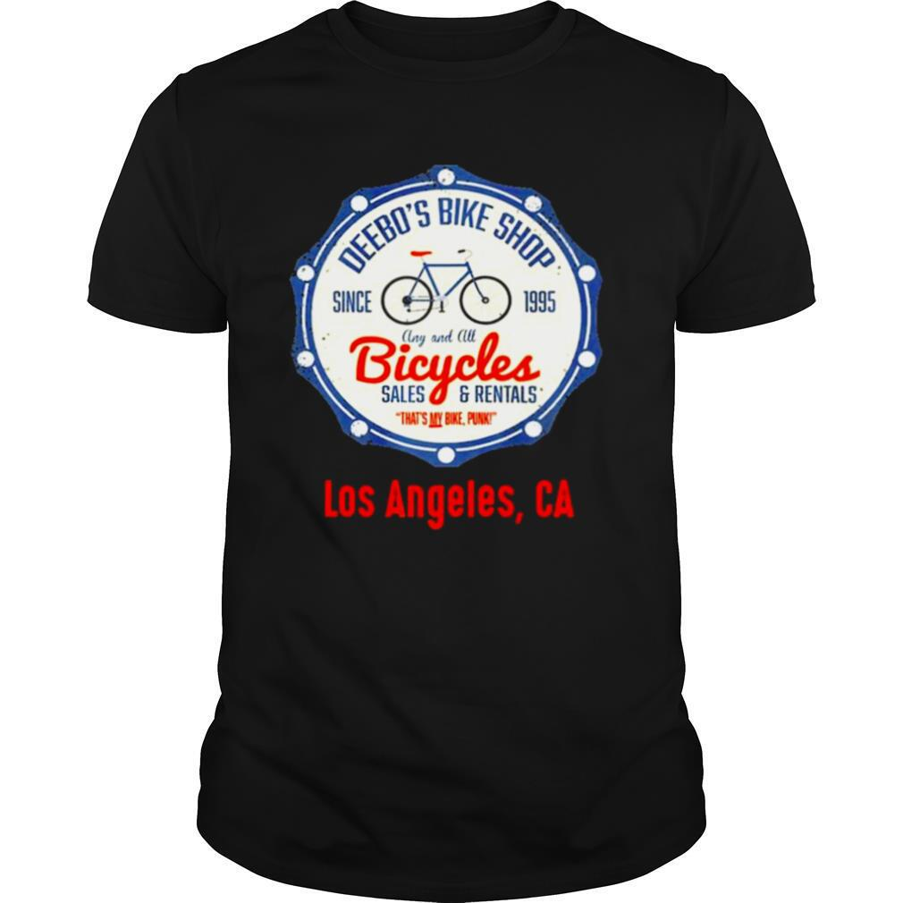 Los Angeles Funny Deebos Bike Rentals Joke shirt Classic Men's
