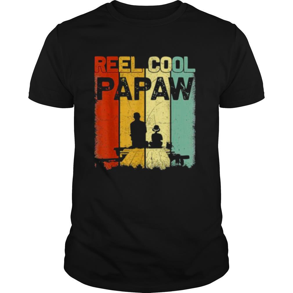 Retro Reel Cool Papaw Fishing Daddy Vintage Fathers Day shirt Classic Men's