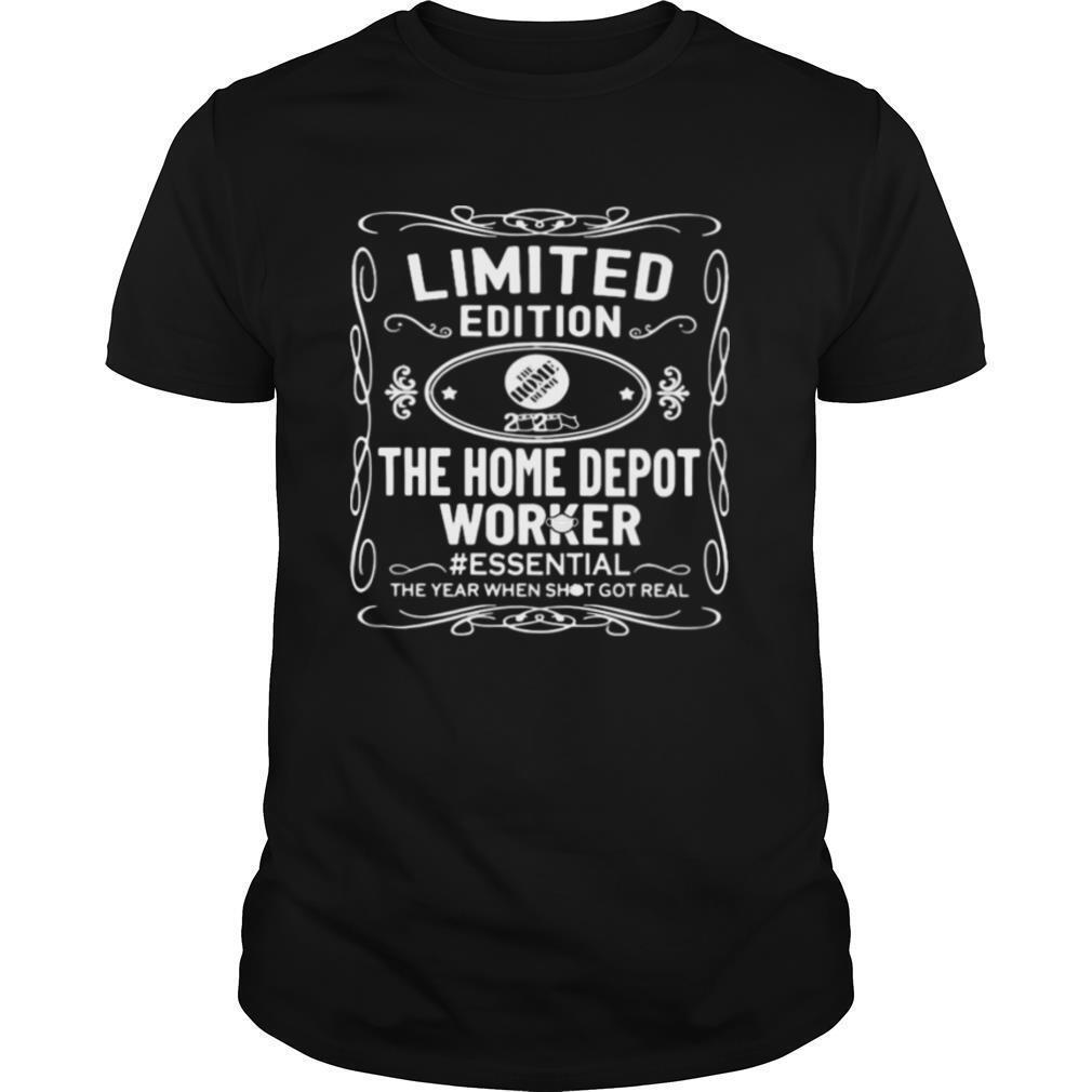 the home depot worker essential the year when shit got real mask shirt Classic Men's