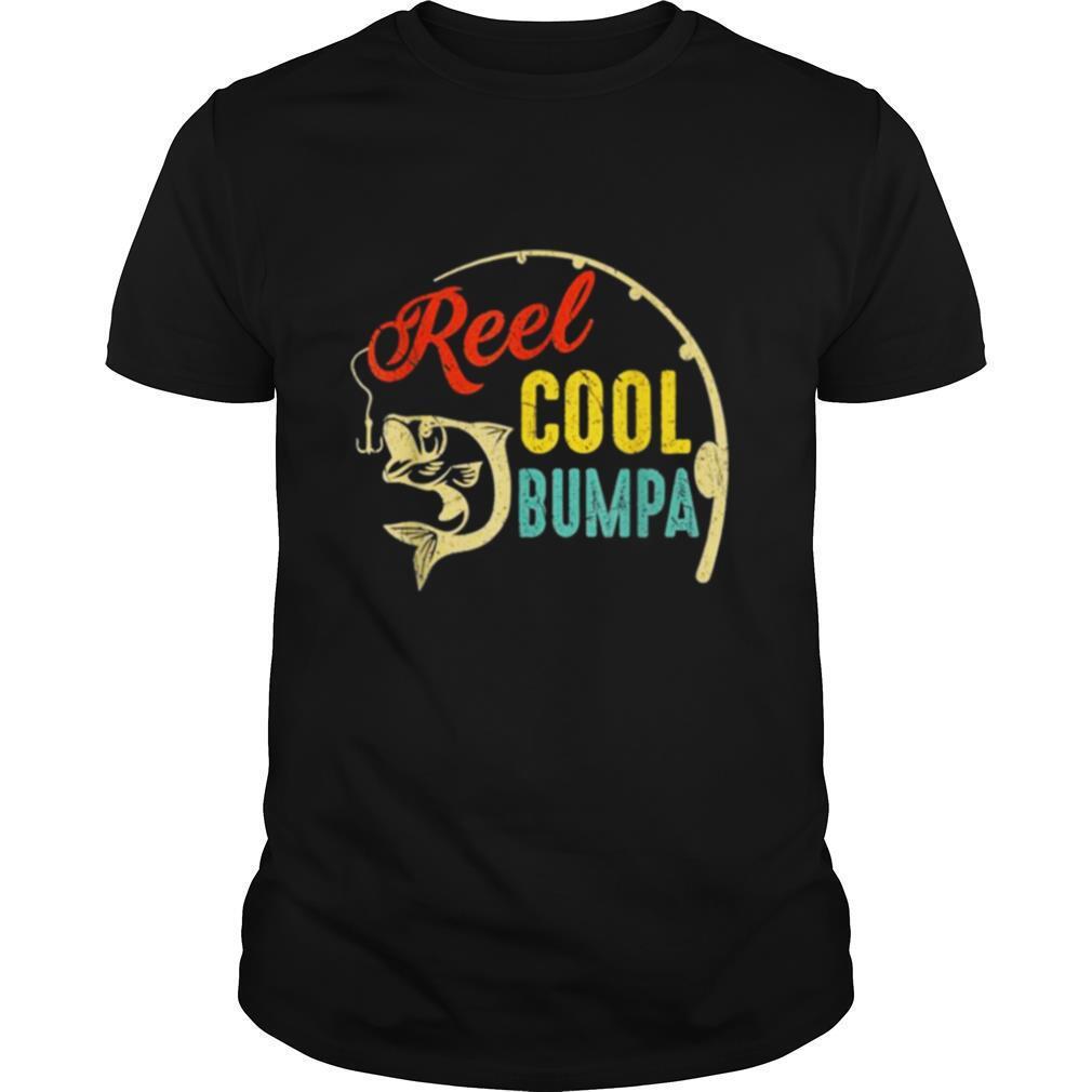 Vintage Fishing Reel Cool Bumpa shirt Classic Men's