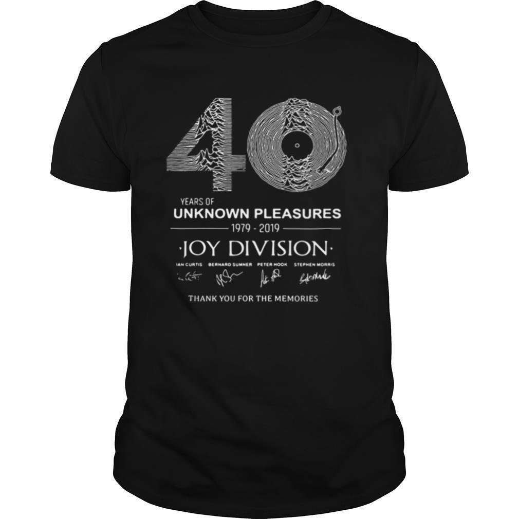 year of unknown pleasures 1979 2019 Joy Division Thank You for The Memories shirt Classic Men's