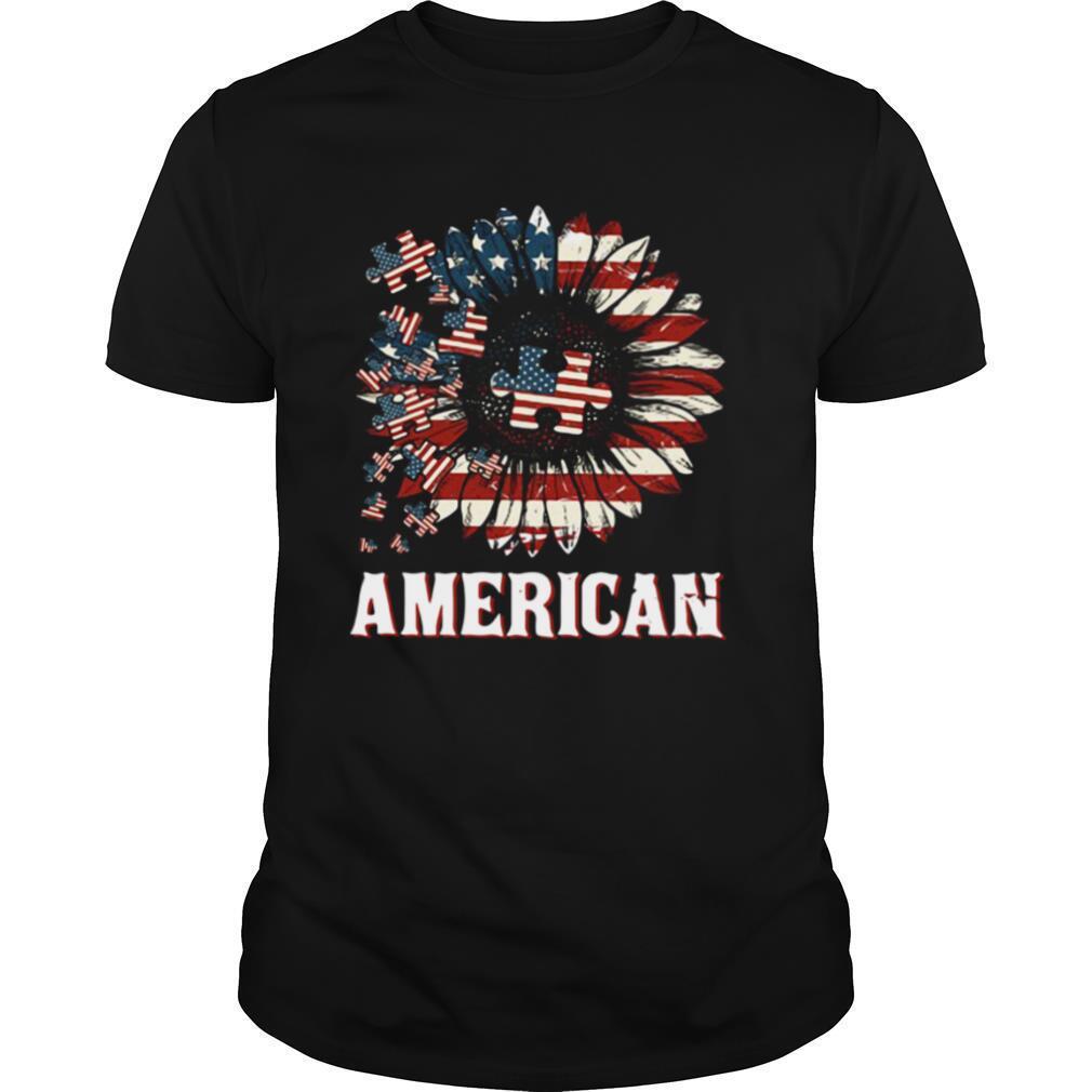Autism America Sunflower 4th July Shirt Boho America shirt Classic Men's