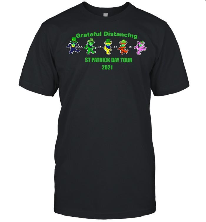 Grateful Distancing St Patricks Day Tour 2021 shirt