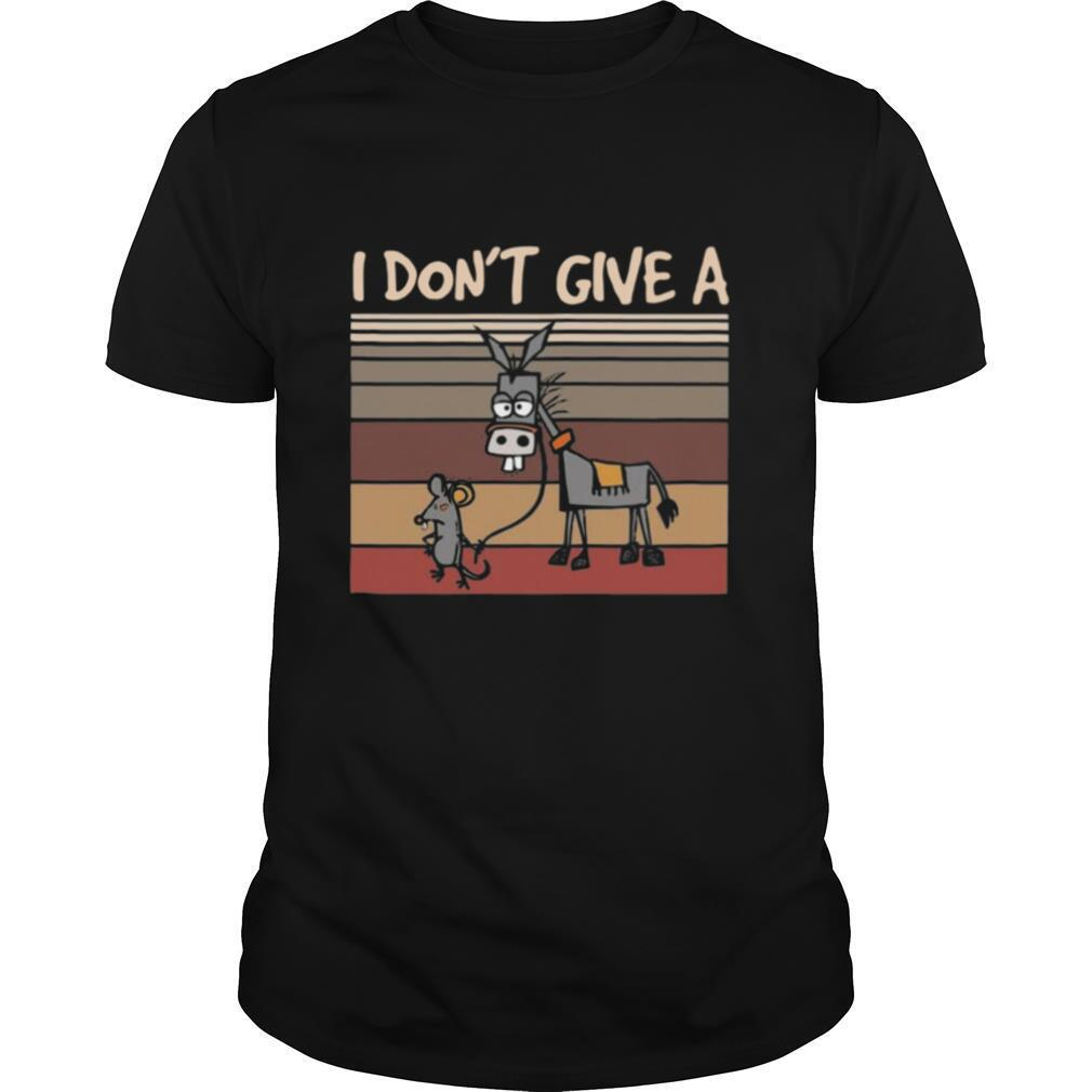 I Don't Give A Rats Mouse Walking Donkey Vintage shirt Classic Men's