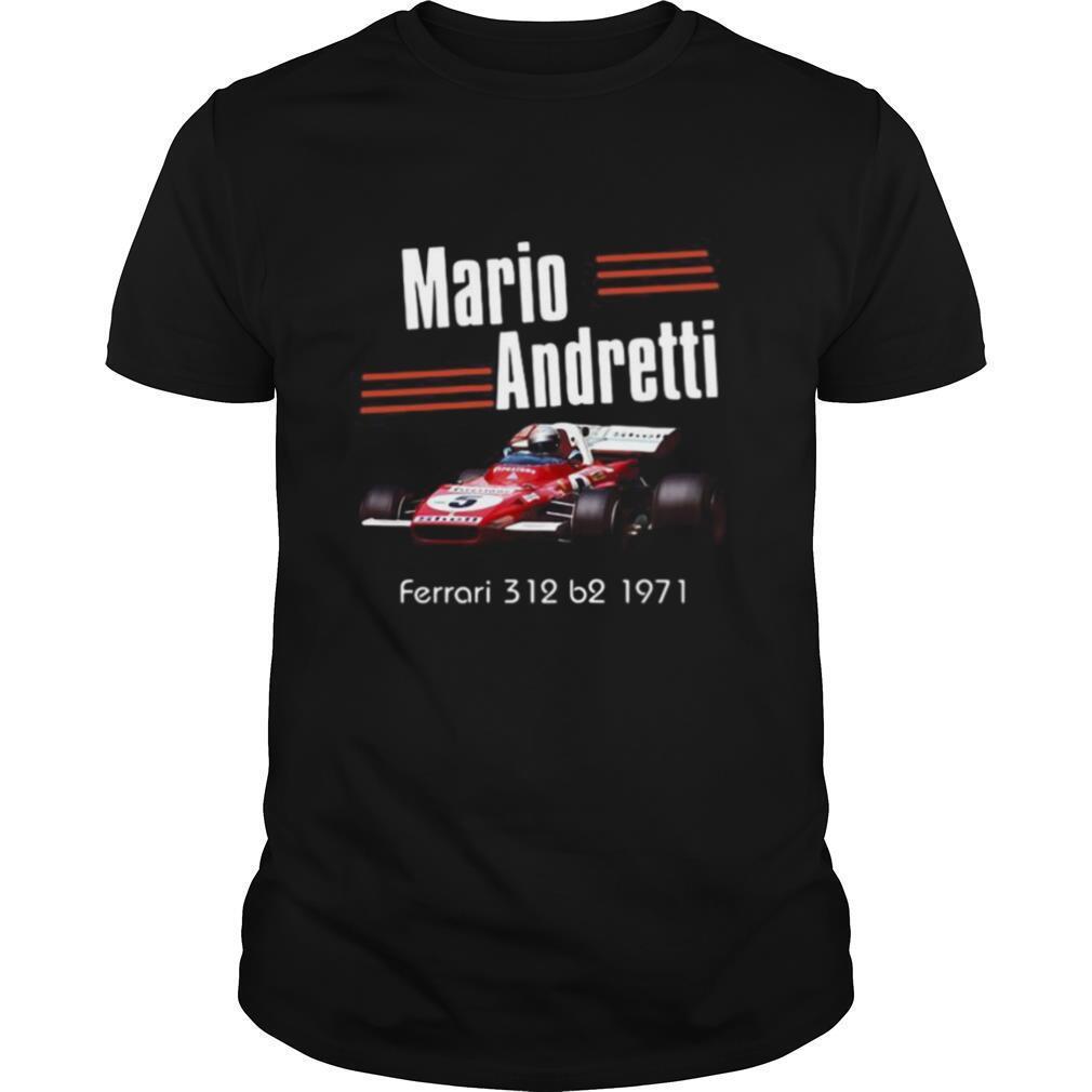 Mario andretti indianapolis 500 ferrari 312 b2 1971 line shirt Classic Men's