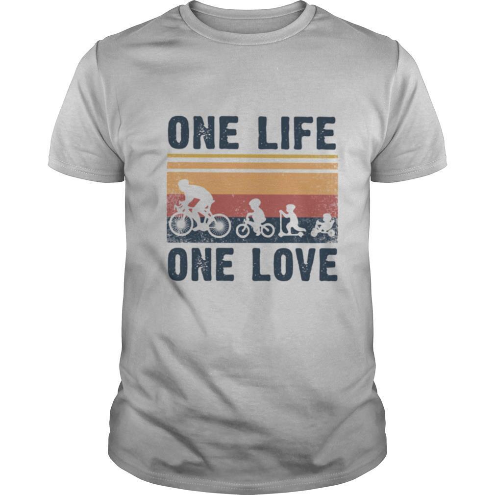 One Life One Love Bike Bikecil Vintage Retro shirt Classic Men's