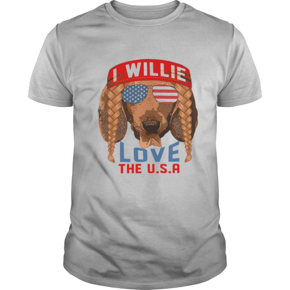 I Willie Love The USA Dachshund shirt Classic Men's