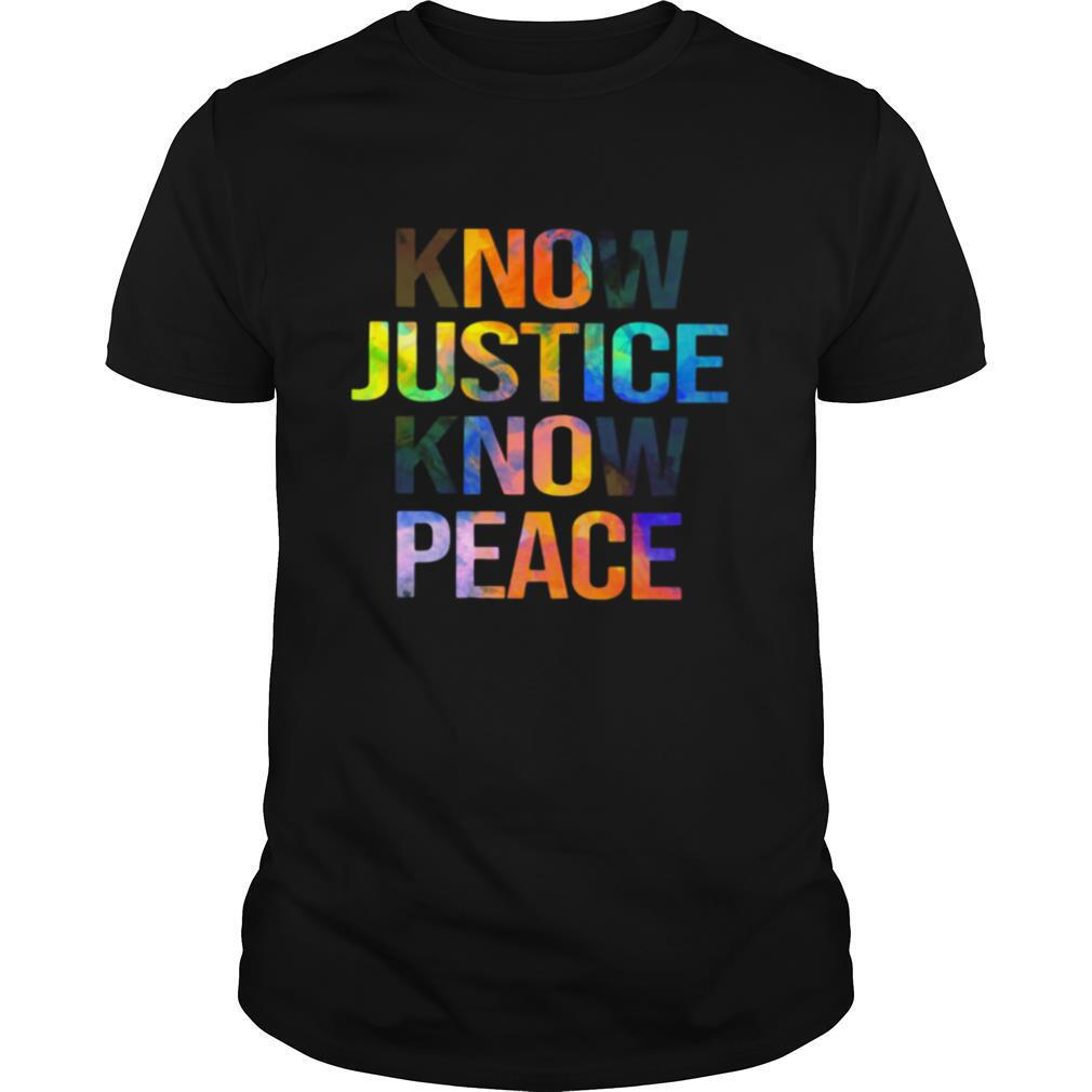 Know Justice Know Peace shirt Classic Men's