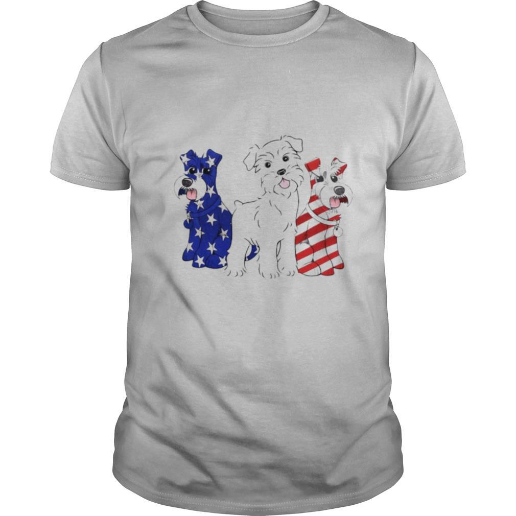 Schnauzer Puppy Patriot Happy Independence Day shirt Classic Men's