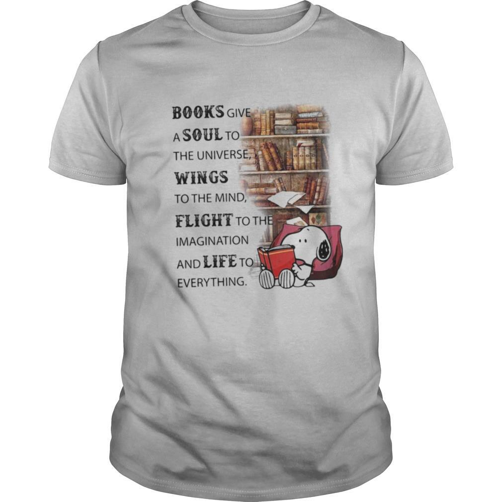Snoopy books give a soul to the universe wings to the mind flight to the imagination and life to everything shirt Classic Men's