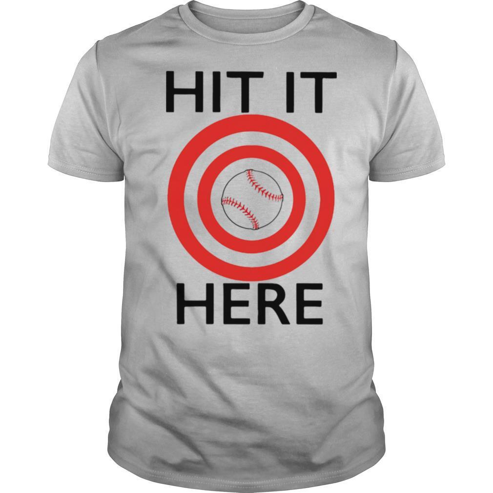 Target baseball hit it here shirt Classic Men's