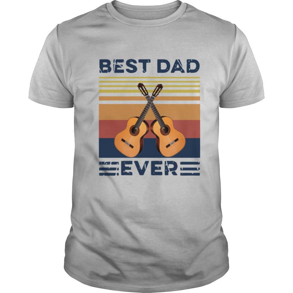 Vintage Guitar Best Dad Ever shirt Classic Men's