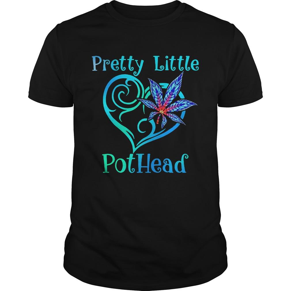 Pretty little pothead heart weed shirt Classic Men's