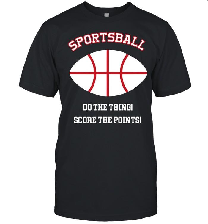 Sportsball 2 Sided Jersey Style Baseball Football Basketball shirt Classic Men's T-shirt
